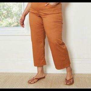 Ava & Viv Plus Size Wide Leg Chino Pants